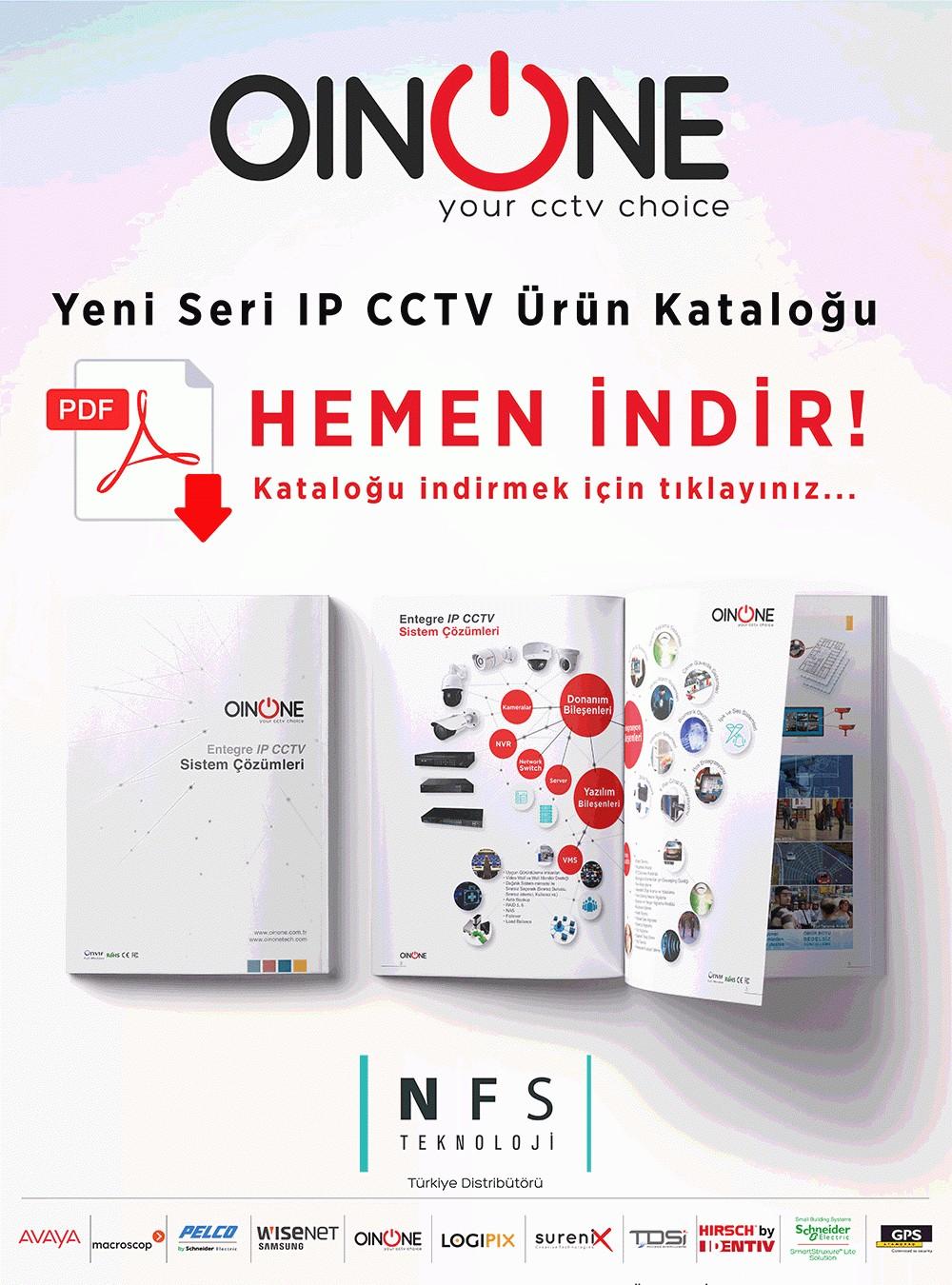 Oinone Yeni IP CCTV Ürün Kataloğunu Hemen İndirin!