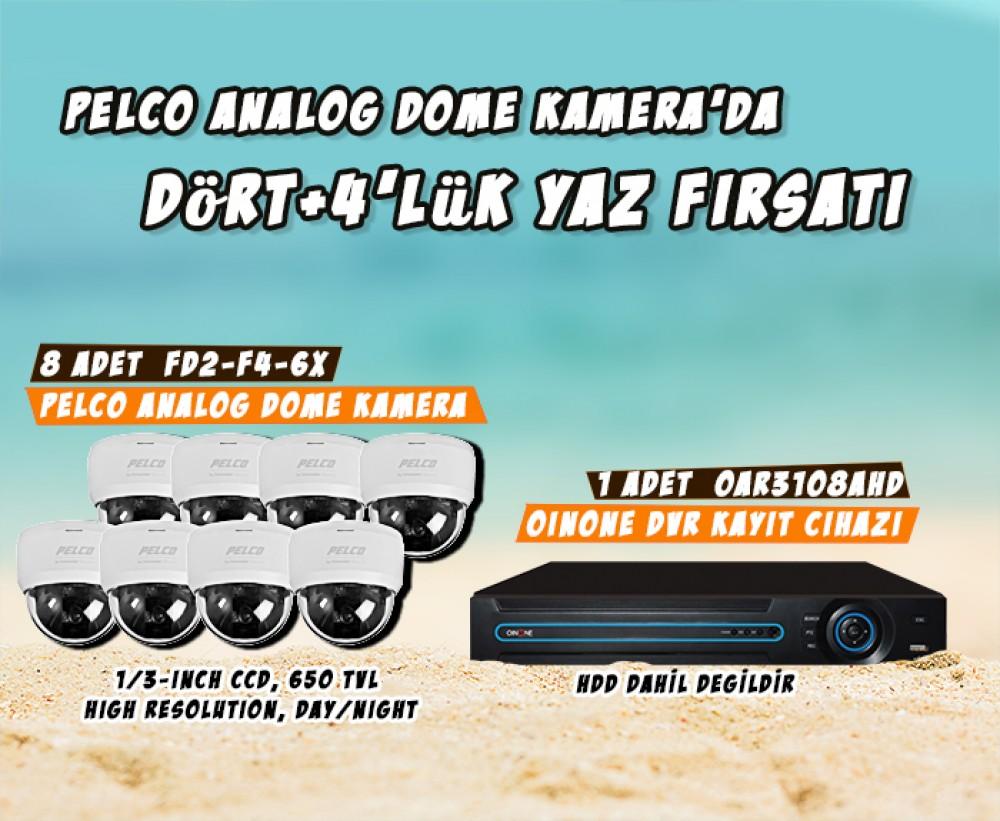 Pelco Dome Kamera'da Dört+4'lük Yaz Fırsatı!