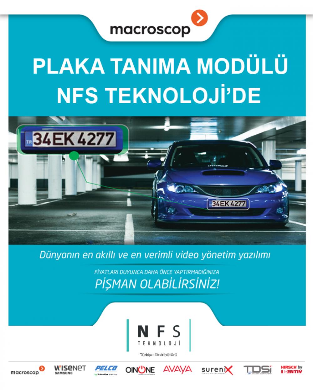 Plaka Tanıma Modülü NFS Teknoloji'de