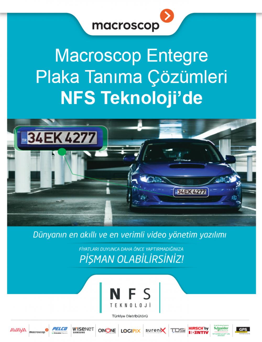 Macroscop Entegre Plaka Tanıma Çözümleri NFS Teknoloji de