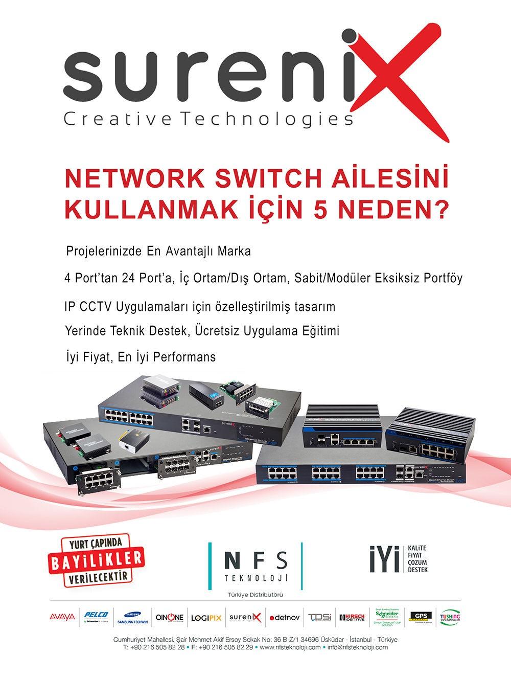 SURENIX NETWORK SWITCH AİLESİNİ KULLANMAK İÇİN 5 NEDEN?